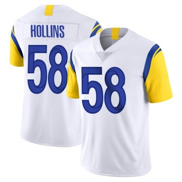 Youth Nike Los Angeles Rams Justin Hollins White Vapor Untouchable Jersey - Limited