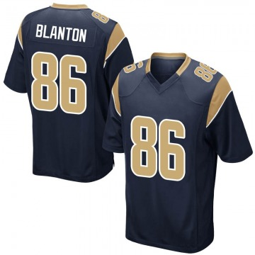 Youth Nike Los Angeles Rams Kendall Blanton Navy Team Color Jersey - Game