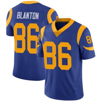 Youth Nike Los Angeles Rams Kendall Blanton Royal 100th Vapor Jersey - Limited