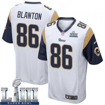 Youth Nike Los Angeles Rams Kendall Blanton White Super Bowl LIII Bound Jersey - Game