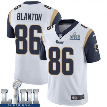 Youth Nike Los Angeles Rams Kendall Blanton White Super Bowl LIII Bound Vapor Untouchable Jersey - Limited