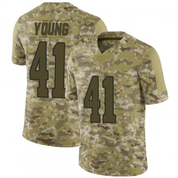 Youth Nike Los Angeles Rams Kenny Young Camo 2018 Salute to Service Jersey - Limited