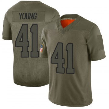 Youth Nike Los Angeles Rams Kenny Young Camo 2019 Salute to Service Jersey - Limited