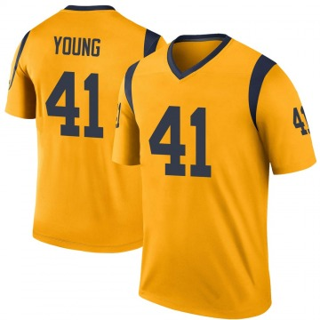 Youth Nike Los Angeles Rams Kenny Young Gold Color Rush Jersey - Legend