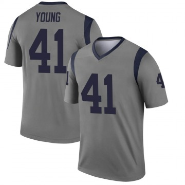 Youth Nike Los Angeles Rams Kenny Young Gray Inverted Jersey - Legend