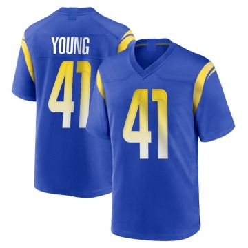 Youth Nike Los Angeles Rams Kenny Young Royal Alternate Jersey - Game