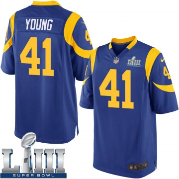 Youth Nike Los Angeles Rams Kenny Young Royal Alternate Super Bowl LIII Bound Jersey - Game