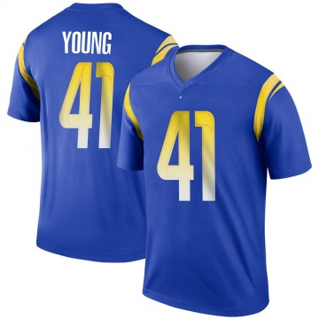 Youth Nike Los Angeles Rams Kenny Young Royal Jersey - Legend