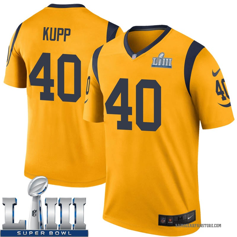 size 40 3e824 1083e Youth Nike Los Angeles Rams Ketner Kupp Gold Color Rush Super Bowl LIII  Bound Jersey - Legend
