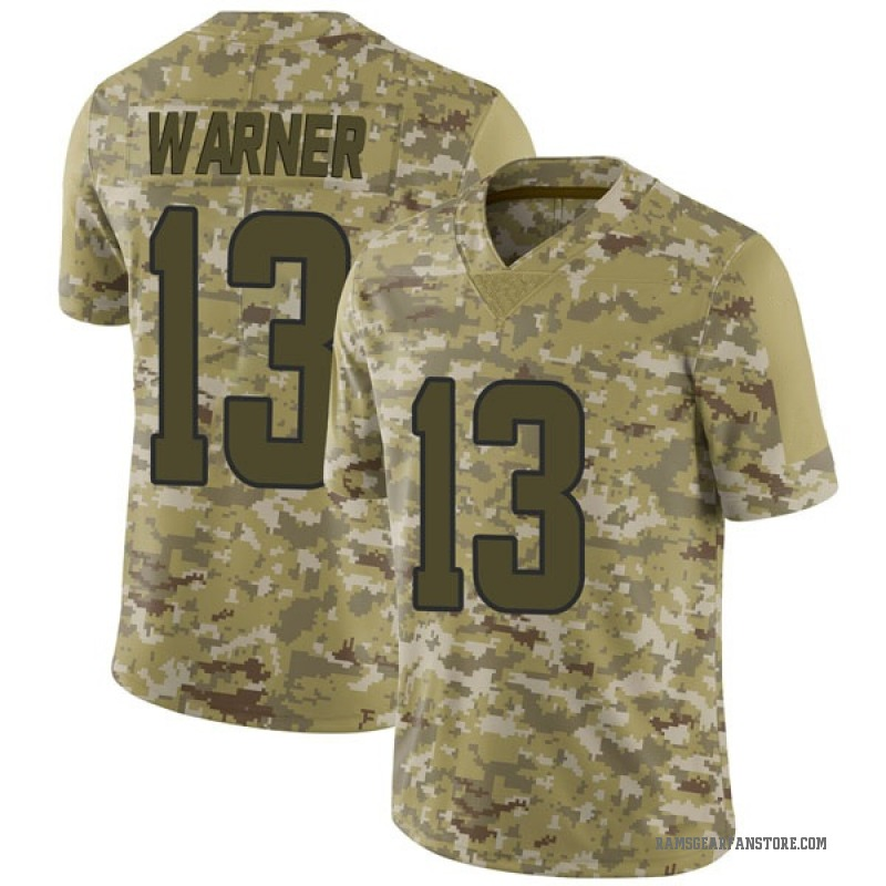 premium selection 8d91a 45cd4 Youth Nike Los Angeles Rams Kurt Warner Camo 2018 Salute to Service Jersey  - Limited