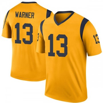 Youth Nike Los Angeles Rams Kurt Warner Gold Color Rush Jersey - Legend