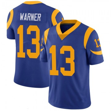 Youth Nike Los Angeles Rams Kurt Warner Royal 100th Vapor Jersey - Limited