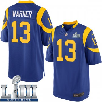 Youth Nike Los Angeles Rams Kurt Warner Royal Alternate Super Bowl LIII Bound Jersey - Game