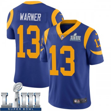 Youth Nike Los Angeles Rams Kurt Warner Royal Alternate Super Bowl LIII Bound Vapor Untouchable Jersey - Limited