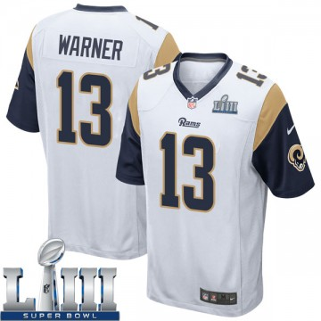 Youth Nike Los Angeles Rams Kurt Warner White Super Bowl LIII Bound Jersey - Game