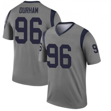 Youth Nike Los Angeles Rams Landis Durham Gray Inverted Jersey - Legend