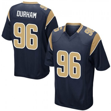 Youth Nike Los Angeles Rams Landis Durham Navy Team Color Jersey - Game