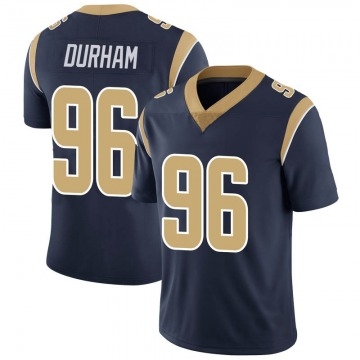 Youth Nike Los Angeles Rams Landis Durham Navy Team Color Vapor Untouchable Jersey - Limited