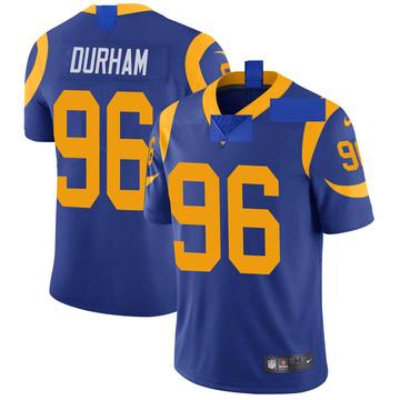 Youth Nike Los Angeles Rams Landis Durham Royal Alternate Vapor Untouchable Jersey - Limited
