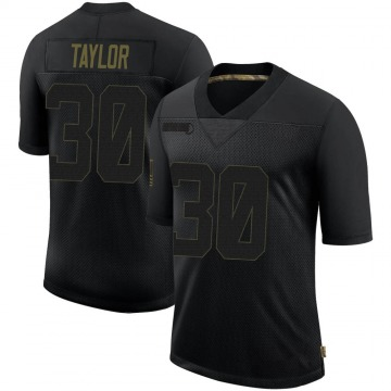 Youth Nike Los Angeles Rams Levonta Taylor Black 2020 Salute To Service Jersey - Limited