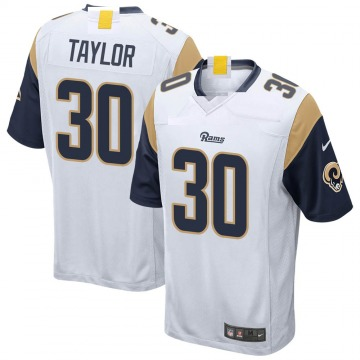 Youth Nike Los Angeles Rams Levonta Taylor White Jersey - Game