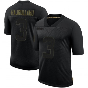Youth Nike Los Angeles Rams Lirim Hajrullahu Black 2020 Salute To Service Jersey - Limited
