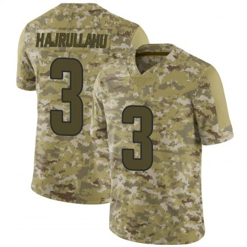 Youth Nike Los Angeles Rams Lirim Hajrullahu Camo 2018 Salute to Service Jersey - Limited