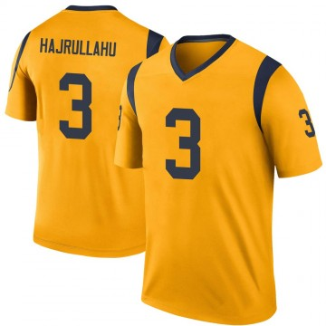 Youth Nike Los Angeles Rams Lirim Hajrullahu Gold Color Rush Jersey - Legend
