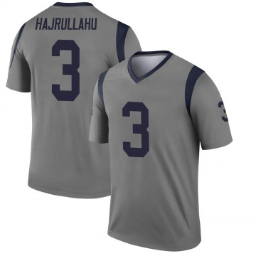Youth Nike Los Angeles Rams Lirim Hajrullahu Gray Inverted Jersey - Legend