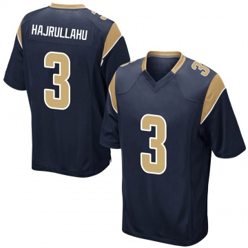 Youth Nike Los Angeles Rams Lirim Hajrullahu Navy Team Color Jersey - Game