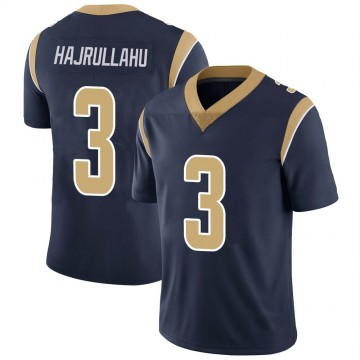 Youth Nike Los Angeles Rams Lirim Hajrullahu Navy Team Color Vapor Untouchable Jersey - Limited
