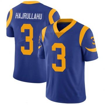 Youth Nike Los Angeles Rams Lirim Hajrullahu Royal 100th Vapor Jersey - Limited