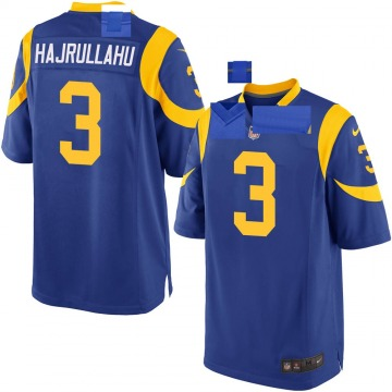 Youth Nike Los Angeles Rams Lirim Hajrullahu Royal Alternate Jersey - Game