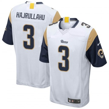 Youth Nike Los Angeles Rams Lirim Hajrullahu White Jersey - Game
