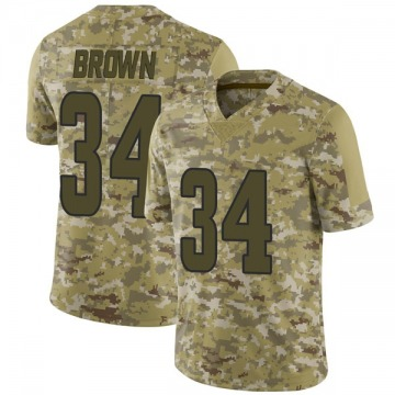 Youth Nike Los Angeles Rams Malcolm Brown Brown Camo 2018 Salute to Service Jersey - Limited
