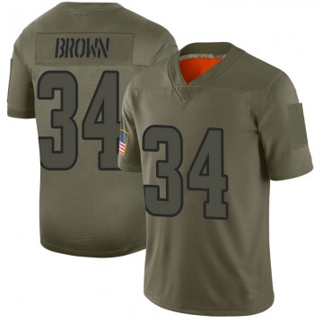 Youth Nike Los Angeles Rams Malcolm Brown Brown Camo 2019 Salute to Service Jersey - Limited