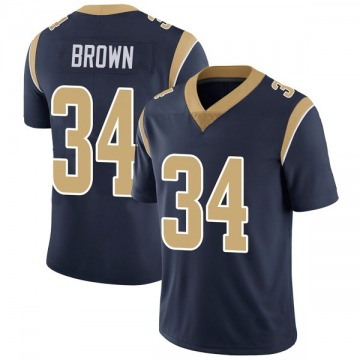 Youth Nike Los Angeles Rams Malcolm Brown Brown Navy Team Color Vapor Untouchable Jersey - Limited
