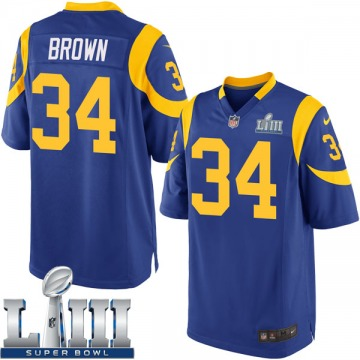 Youth Nike Los Angeles Rams Malcolm Brown Brown Royal Alternate Super Bowl LIII Bound Jersey - Game