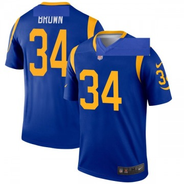 Youth Nike Los Angeles Rams Malcolm Brown Brown Royal Jersey - Legend