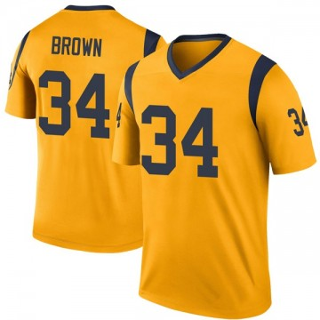 Youth Nike Los Angeles Rams Malcolm Brown Gold Color Rush Jersey - Legend