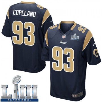 Youth Nike Los Angeles Rams Marquise Copeland Navy Team Color Super Bowl LIII Bound Jersey - Game
