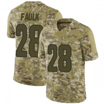 Youth Nike Los Angeles Rams Marshall Faulk Camo 2018 Salute to Service Jersey - Limited