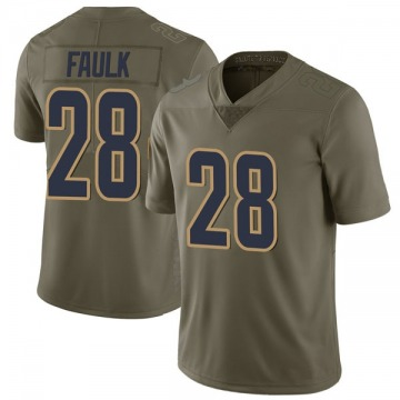 Youth Nike Los Angeles Rams Marshall Faulk Green 2017 Salute to Service Jersey - Limited