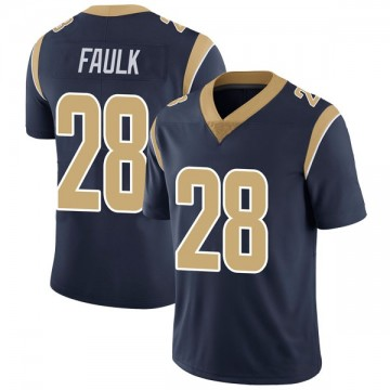 Youth Nike Los Angeles Rams Marshall Faulk Navy Team Color Vapor Untouchable Jersey - Limited