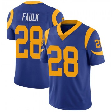 Youth Nike Los Angeles Rams Marshall Faulk Royal 100th Vapor Jersey - Limited