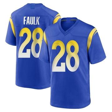 Youth Nike Los Angeles Rams Marshall Faulk Royal Alternate Jersey - Game