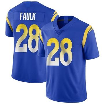 Youth Nike Los Angeles Rams Marshall Faulk Royal Alternate Vapor Untouchable Jersey - Limited