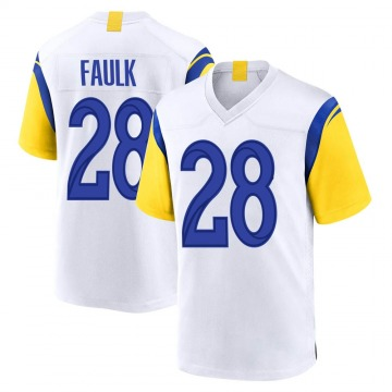Youth Nike Los Angeles Rams Marshall Faulk White Jersey - Game