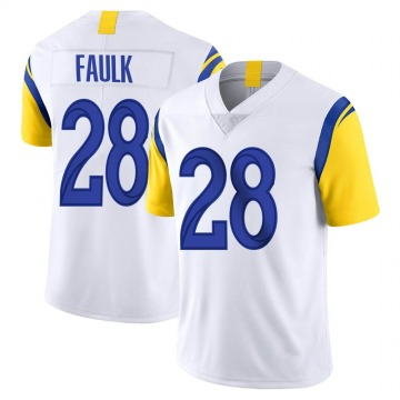 Youth Nike Los Angeles Rams Marshall Faulk White Vapor Untouchable Jersey - Limited