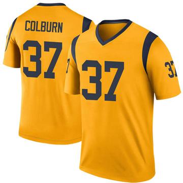 Youth Nike Los Angeles Rams Matt Colburn Gold Color Rush Jersey - Legend